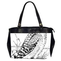Animal Bird Forest Nature Owl Office Handbags (2 Sides)  by Nexatart