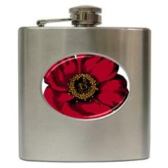 Floral Flower Petal Plant Hip Flask (6 Oz)