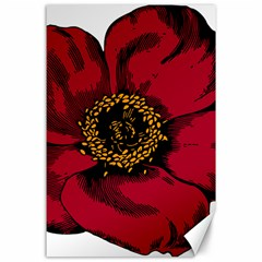 Floral Flower Petal Plant Canvas 24  X 36