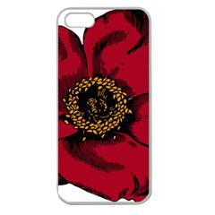 Floral Flower Petal Plant Apple Seamless Iphone 5 Case (clear)
