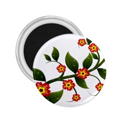 Flower Branch Nature Leaves Plant 2 25  Magnets by Nexatart