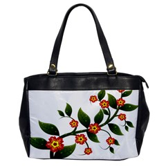 Flower Branch Nature Leaves Plant Office Handbags by Nexatart
