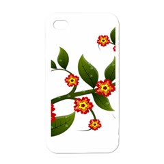 Flower Branch Nature Leaves Plant Apple Iphone 4 Case (white) by Nexatart