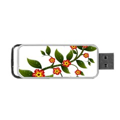Flower Branch Nature Leaves Plant Portable Usb Flash (one Side)