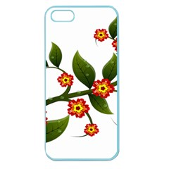 Flower Branch Nature Leaves Plant Apple Seamless Iphone 5 Case (color) by Nexatart