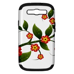 Flower Branch Nature Leaves Plant Samsung Galaxy S Iii Hardshell Case (pc+silicone)