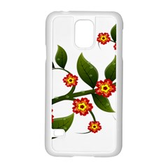 Flower Branch Nature Leaves Plant Samsung Galaxy S5 Case (white)
