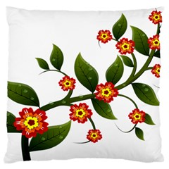 Flower Branch Nature Leaves Plant Standard Flano Cushion Case (two Sides)