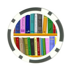 Shelf Books Library Reading Poker Chip Card Guard