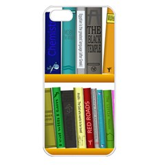 Shelf Books Library Reading Apple Iphone 5 Seamless Case (white)