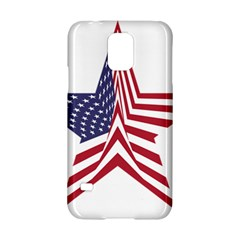 A Star With An American Flag Pattern Samsung Galaxy S5 Hardshell Case