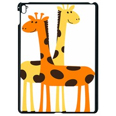Giraffe Africa Safari Wildlife Apple Ipad Pro 9 7   Black Seamless Case