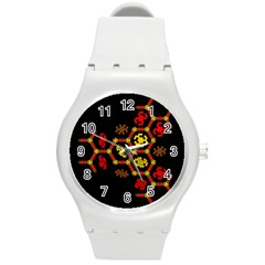 Algorithmic Drawings Round Plastic Sport Watch (m) by Nexatart