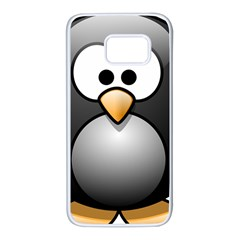 Penguin Birds Aquatic Flightless Samsung Galaxy S7 White Seamless Case