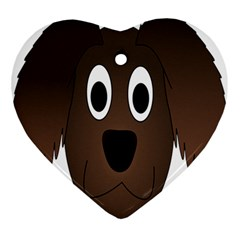 Dog Pup Animal Canine Brown Pet Ornament (heart)