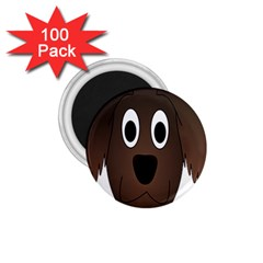 Dog Pup Animal Canine Brown Pet 1 75  Magnets (100 Pack)