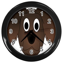Dog Pup Animal Canine Brown Pet Wall Clocks (black) by Nexatart