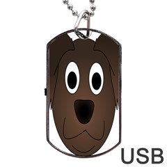 Dog Pup Animal Canine Brown Pet Dog Tag Usb Flash (two Sides)