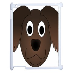 Dog Pup Animal Canine Brown Pet Apple Ipad 2 Case (white)