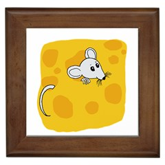 Rat Mouse Cheese Animal Mammal Framed Tiles