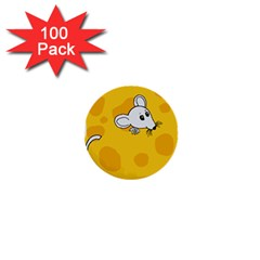 Rat Mouse Cheese Animal Mammal 1  Mini Buttons (100 Pack)