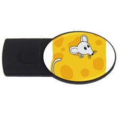Rat Mouse Cheese Animal Mammal Usb Flash Drive Oval (4 Gb)