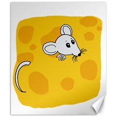 Rat Mouse Cheese Animal Mammal Canvas 20  X 24   by Nexatart