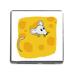 Rat Mouse Cheese Animal Mammal Memory Card Reader (square)