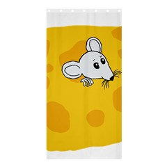 Rat Mouse Cheese Animal Mammal Shower Curtain 36  X 72  (stall)  by Nexatart
