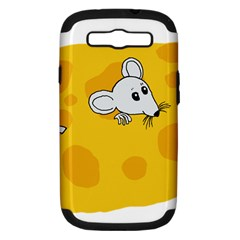 Rat Mouse Cheese Animal Mammal Samsung Galaxy S Iii Hardshell Case (pc+silicone) by Nexatart