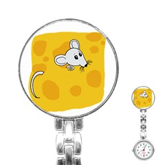 Rat Mouse Cheese Animal Mammal Stainless Steel Nurses Watch