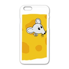 Rat Mouse Cheese Animal Mammal Apple Iphone 6/6s White Enamel Case