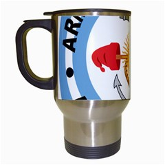 Argentine Naval Aviation Patch Travel Mugs (white) by abbeyz71