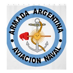 Argentine Naval Aviation Patch Shower Curtain 66  X 72  (large)  by abbeyz71