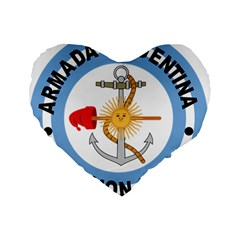 Argentine Naval Aviation Patch Standard 16  Premium Heart Shape Cushions by abbeyz71