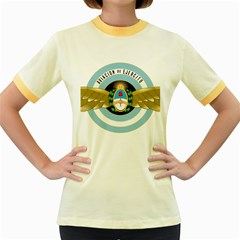 Argentine Army Aviation Badge Women s Fitted Ringer T Shirts