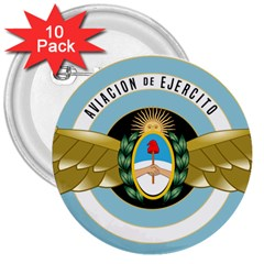 Argentine Army Aviation Badge 3  Buttons (10 Pack)  by abbeyz71