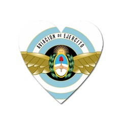 Argentine Army Aviation Badge Heart Magnet by abbeyz71
