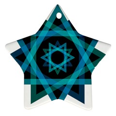 Transparent Triangles Ornament (star) by Nexatart