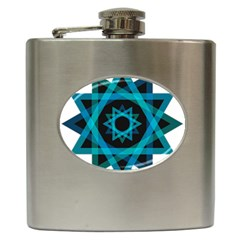 Transparent Triangles Hip Flask (6 Oz)