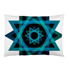 Transparent Triangles Pillow Case