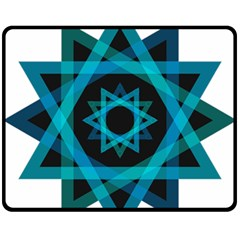 Transparent Triangles Fleece Blanket (medium)