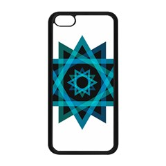 Transparent Triangles Apple Iphone 5c Seamless Case (black)