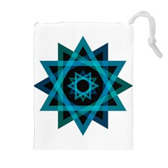 Transparent Triangles Drawstring Pouches (extra Large)
