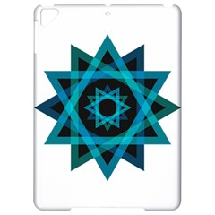 Transparent Triangles Apple Ipad Pro 9 7   Hardshell Case by Nexatart