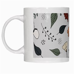 Grey Toned Pattern White Mugs by Nexatart