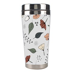 Grey Toned Pattern Stainless Steel Travel Tumblers