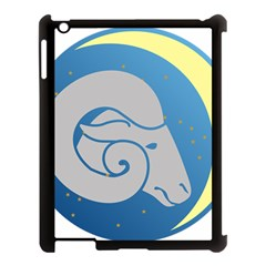 Ram Zodiac Sign Zodiac Moon Star Apple Ipad 3/4 Case (black)