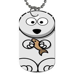 Bear Polar Bear Arctic Fish Mammal Dog Tag (two Sides) by Nexatart