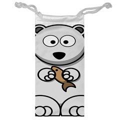Bear Polar Bear Arctic Fish Mammal Jewelry Bag by Nexatart